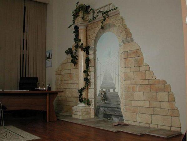 Декор искусственным камнем фото