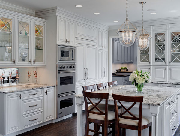 Inspirational charming traditional green kitchen cabinets