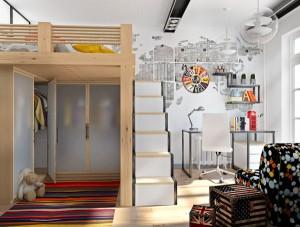 Interer-detskoy-v-stile-loft